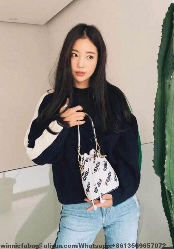 8572bdf5c1e0 Fendi Mania Mon Tresor Mini Bucket Bag 2019