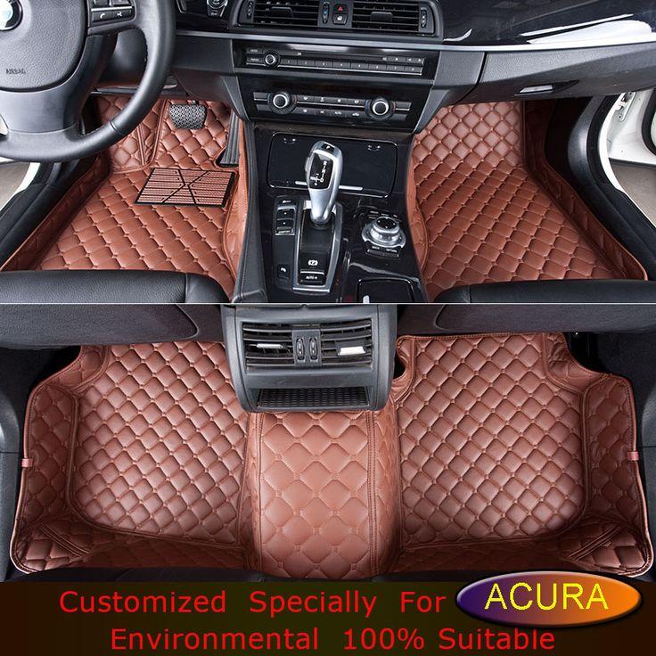 Car Floor Mats for Acura ZDX RL MDX RDX Car Styling Customized Foot Rugs Custom Car Carpets Black Brown Beige