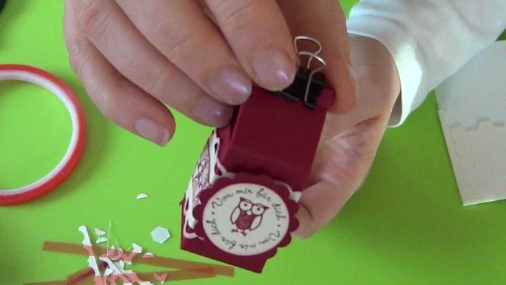 Hallo, hier kommt die Anleitung zu meinem Mini-Mini-Milchkarton. Das war mein Swap auf der Stampin'Up! Convention 2012 in Mainz. Für alle die nicht so schnel...