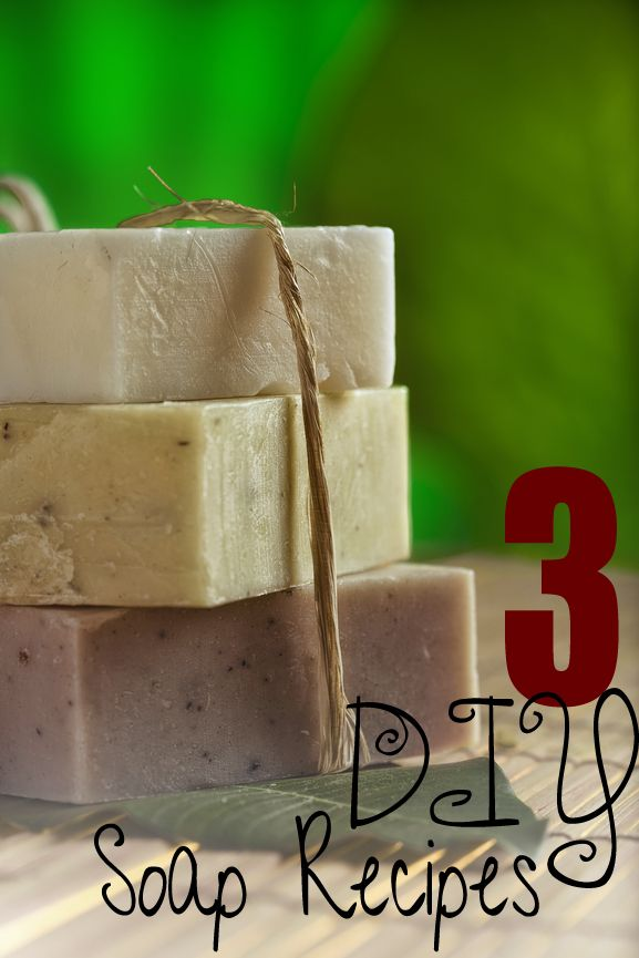 3 - DIY Soap Recipes...Easy ...Peasy at sunlitspaces.com