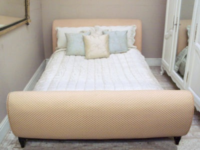 very stylish french deco upholstered bed 5ft wide