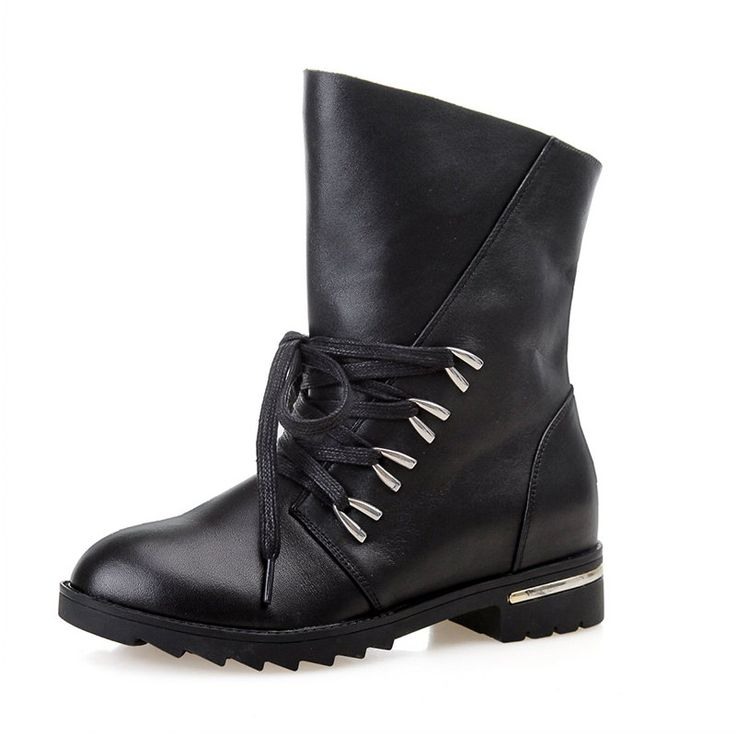 Women boots 2014 full grain leather ankle boots by LadiesShoes