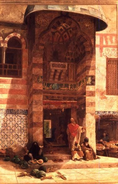 Outside the Mosque by Charles Robertson