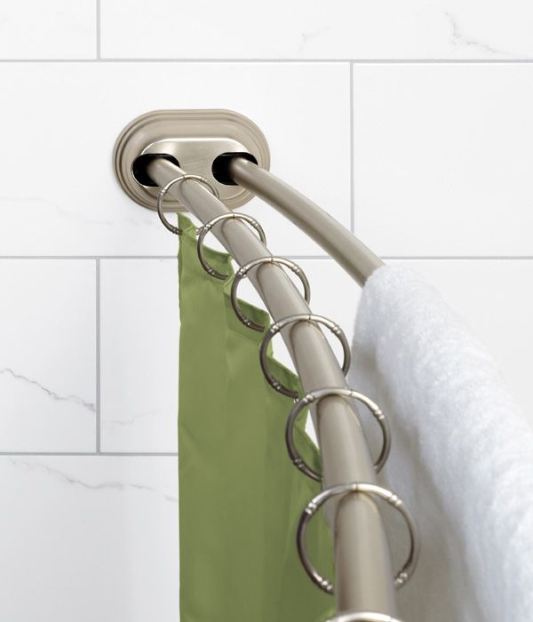 Neverrust Double Tension Curved Shower Rod Shower Rod Double
