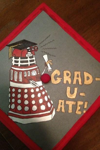 (100+) graduation cap | TumblrGraduation Caps, Geek Stuff, Grad Cap, Nerdy Stuff, Geek Things, Doctors Who, Graduation Cake, Nerdy Things, Graduation Cap Nerdy
