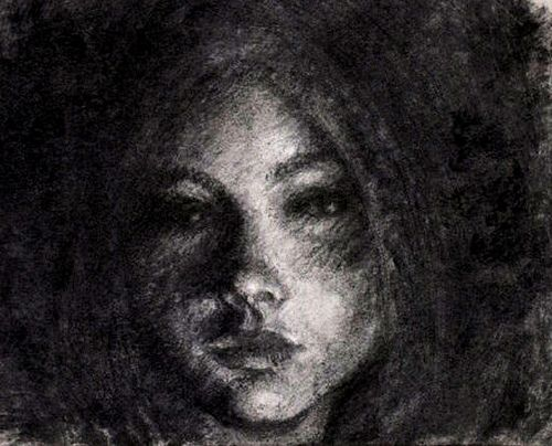 Charcoal Art | vine charcoal and pencil drawing, a girl in shadows | Flickr - Photo ...