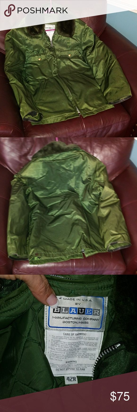 Blauer GORE green PARKA 3 SEASON coat 42R BLAUER GORE TEX OLIVE GREEN 3 SEASON PARKA COAT. Size 42R. Preowned but still in great condition with a lifetime left. Blauer Jackets & Coats