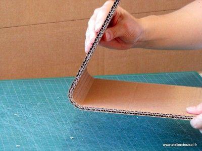 De jolies courbes pour votre meuble en carton