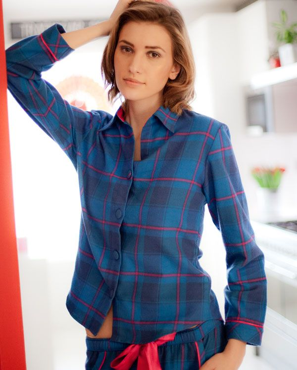 Sole Statement Brushed Cosy Check Pyjamas