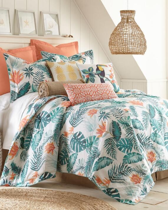 3 Piece Tropical Comforter Set