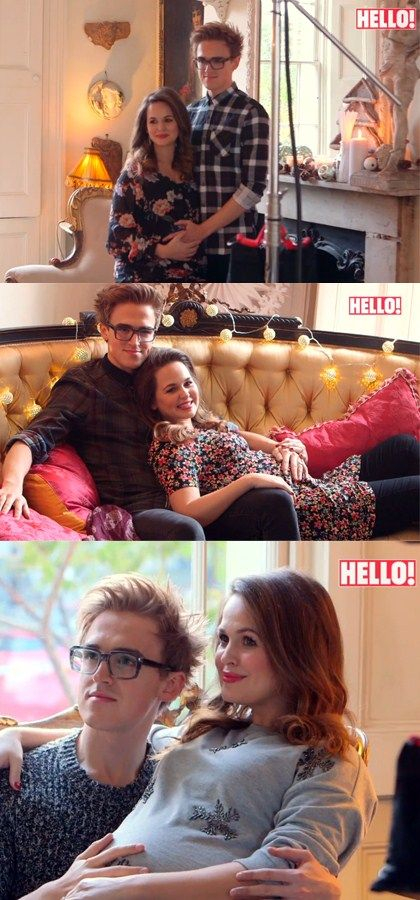 Tom Fletcher and Giovanna Fletcher in Hello Magazine Dec 2013.