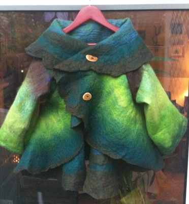 Beautiful Autumn/ Winter Nuno felted coat