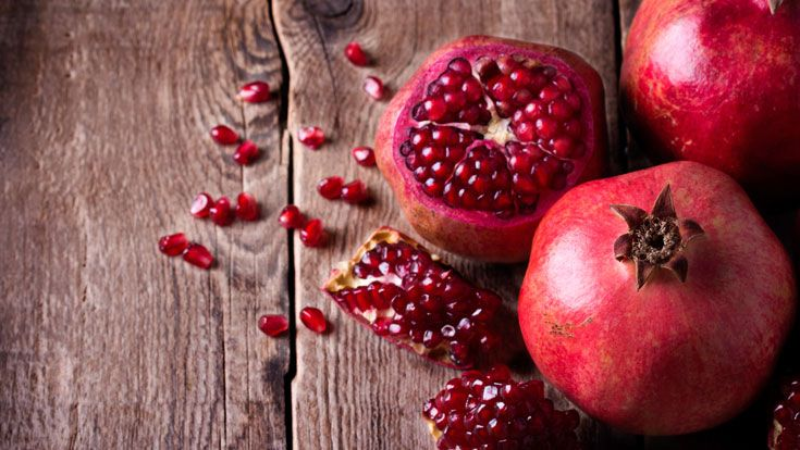 Pomegranates would have to be one of my favourite fruits. I love their little jewels of red tartness, the tang they add to salads, the vibrant red brightening otherwise dull couscous or rice. The g…