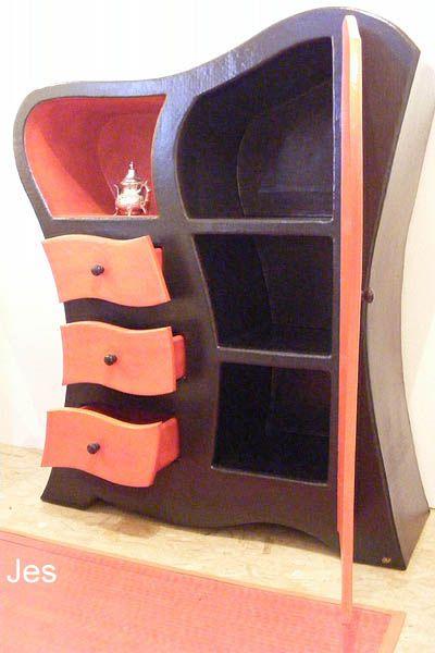 Placard en carton table de lit tutos pap pinterest for Paper mache furniture ideas