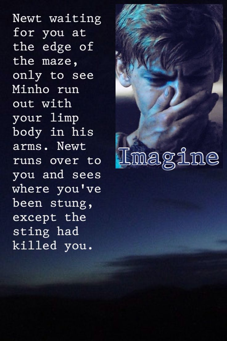 I don't like imagines very much but this was too sad. I HATE CRYING NEWT OH MY GOODNESS.
