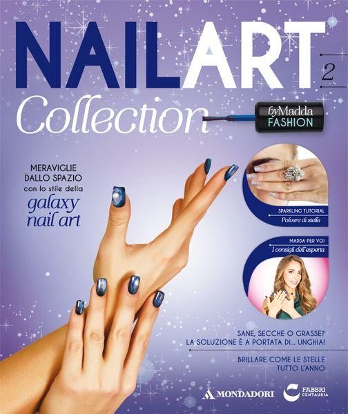La seconda uscita di #NailArt Collection! fascicolo + #Smalto blu + #Glitter argento + Glitter azzurro + Pennello a ventaglio!