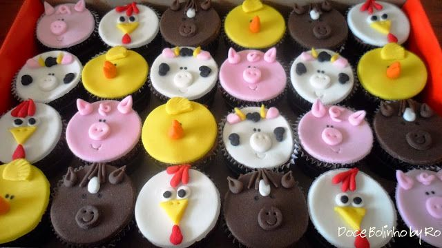 Cupcake Bichinhos da Fazenda