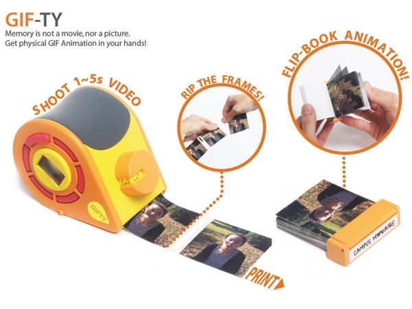 GIFTY, A Small Camera That Captures and Prints Animated GIFs as Tiny Flip Books