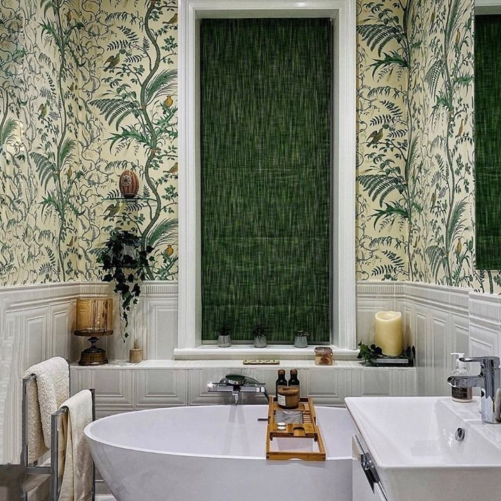 Brunschwig Fils Bird And Thistle Cotton Print Green Fabric In 2021 Bird And Thistle Relaxing Bathroom Green Fabric Bird and thistle wallpaper green