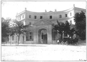 Palacio de Montellano, en la Castellana, derribado en 1966, y que hoy es el edificio de La Unión y el Fénix-  de Joaquin Saldaña