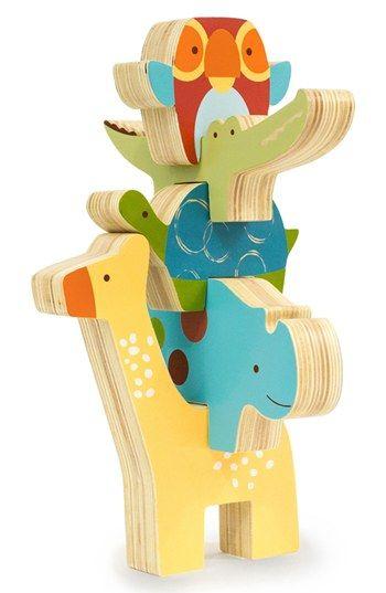 Skip Hop 'Giraffe Safari' Stacking Animal Blocks available at #Nordstrom
