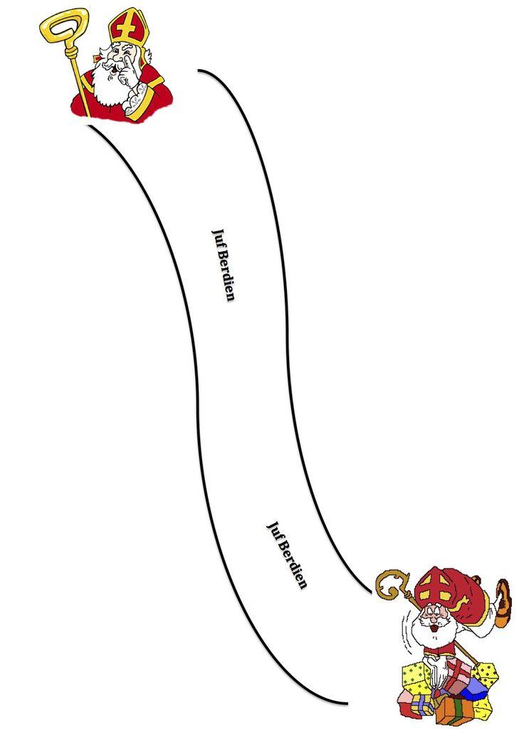 Juf Berdien Dominoweg bouwen met dominosteentjes Sinterklaas kleuters Piet