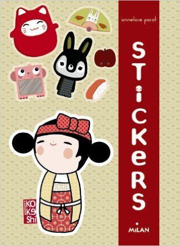 Stickers kokeshi annelore parot books for Stickers kokeshi