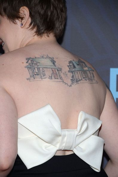 Lena Dunham Artistic Design Tattoo
