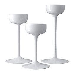 IKEA - BLOMSTER, Kerzenhalter 3 St., Passend für große und kleine Teelichter.Mundgeblasen; jedes Exemplar wurde von einem talentierten Kunsthandwerker gefertigt.