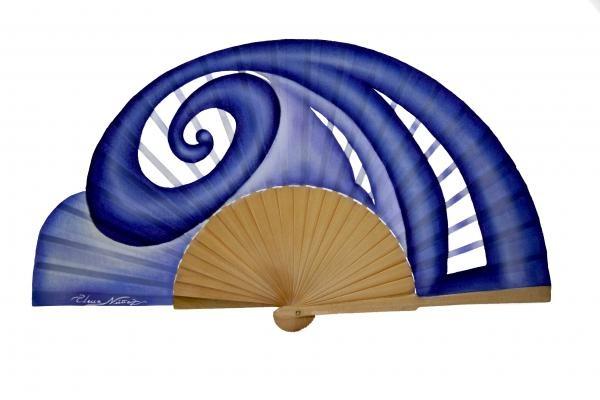 Azul: Pintadomadera De, Algodon Pintadomadera, Accessories, Handfan, Painted Range