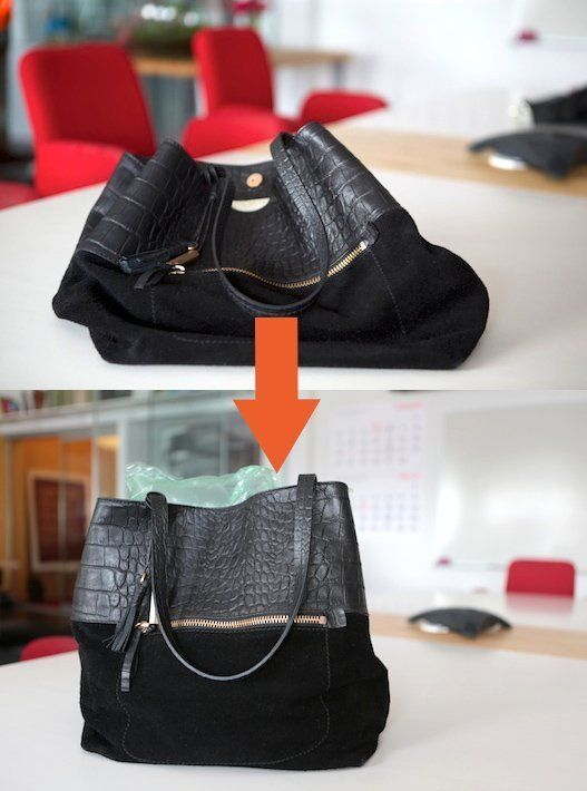 Quick Closet Tip: Help Store Purses Upright With This Easy, Free Trick | Apartment Therapy