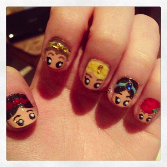 Disney Princess Nails: 106 Best Images About Princess Jasmine Nails On Pinterest