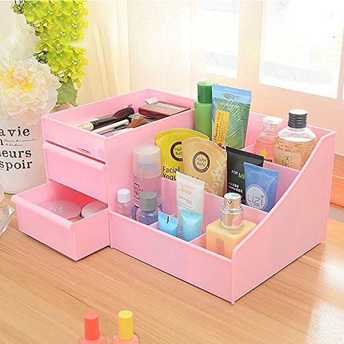 SUPO Desktop Cosmetic Storage Box Drawer Type Plastic Large Jewelry Collection Box Plastic Storage Box Makeup | Boxes Jewellery Accessories Boxes and Organisers Women | Best news and deals!