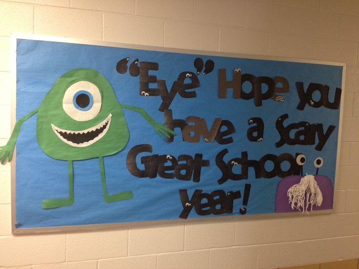 Monster Classroom Decor : Back to school monsters inc bulletin board education fun