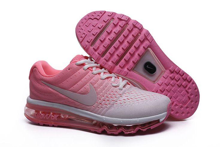 Nike Air Max 2017 Dames Loopschoenen Wit Roze