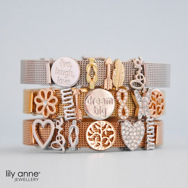 Can't decide between wearing Silver, Gold or Rose Gold today? Why not stack them up to create your unique look!