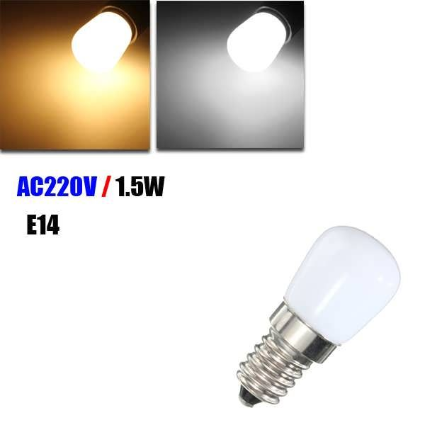 E14 1.5W SMD 2835 LED Warm White White Refrigerator Light Bulb Lamp AC 220V  Worldwide delivery. Original best quality product for 70% of it's real price. Buying this product is extra profitable, because we have good production source. 1 day products dispatch from warehouse. Fast &...