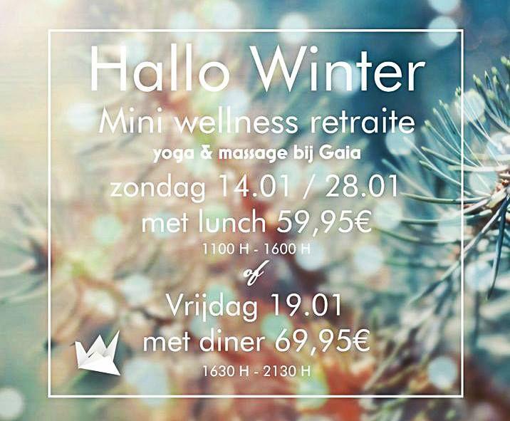Hallo winter! yoga & massage bij gaia @ Hotel Gaia - 14-January https://www.evensi.nl/hallo-winter-yoga-massage-bij-gaia-hotel/237104224