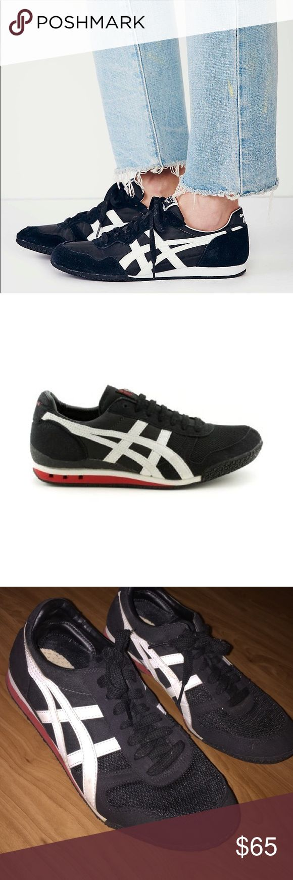 """tiger onitsuka womens black Right on pace with this season's retro running looks, Onitsuka Tiger, the heritage brand behind ASICS, pays tribute to its own Seventies-era sneaker styles with the """"Serrano,"""" a low-profile, lightweight trainer shown here with high-contrast """"tiger stripes."""" Available Colors: Black, Blue, Gold Nylon/suede uppers with seven-eyelet lacing system Lightly padded heel collar and tongue Rubber outsole EVA midsole Manmade, cushioned footbed size 7 men 9 women Urban…"""