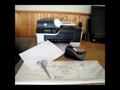 How to Print on Tissue Paper (great for use in decoupage transfers!)