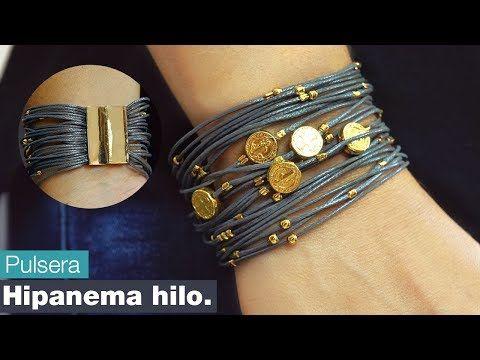 Como hacer una Pulsera Hipanema Hilo - Variedades CarolTv - YouTube