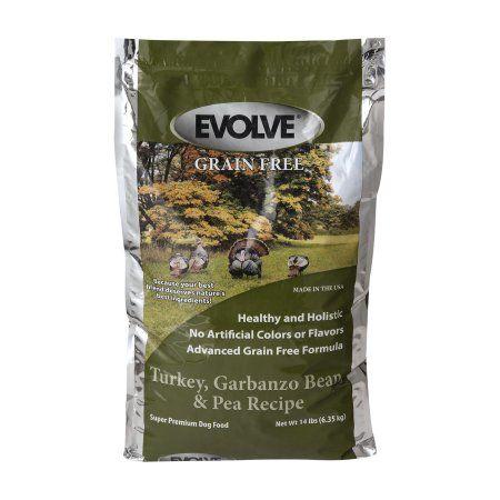 Evolve Grain Free Super Premium Dog Food Turkey, Garbanzo Bean, & Pea Recipe, 14.0 LB