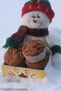 Muffinki piernikowe z czekoladą