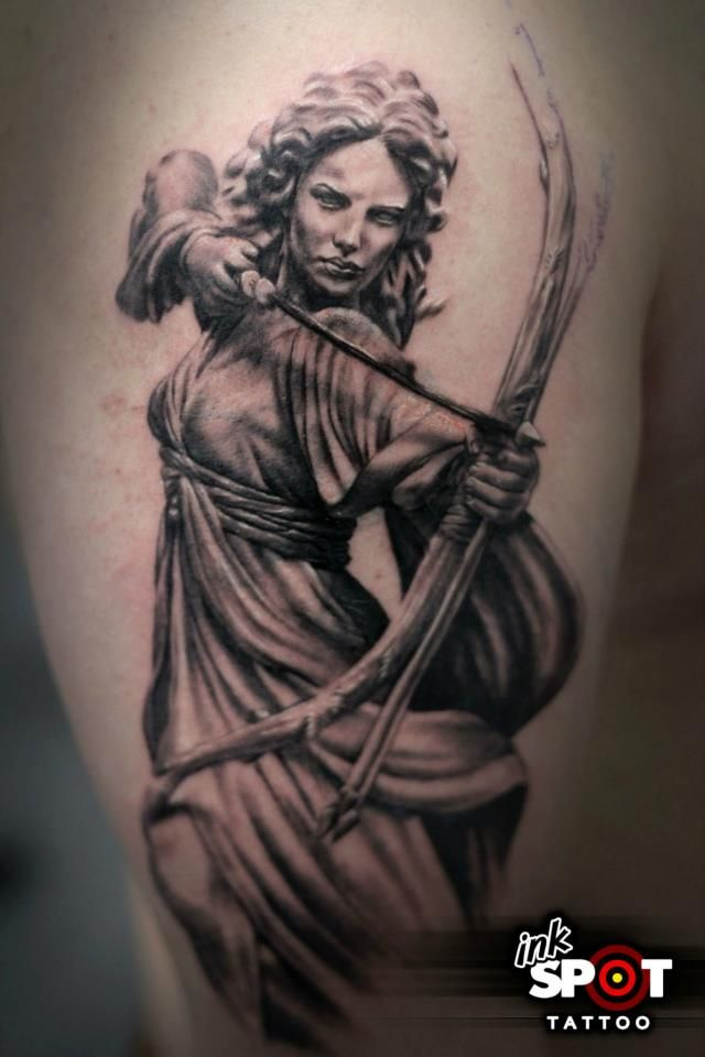 The Goddess Diana In Roman mythology, Diana was the goddess of the hunt, mythologically similar to the Greek goddess Artemis. Description from pinterest.com. I searched for this on bing.com/images