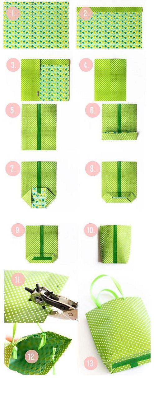 Como haser una bolsa de papel
