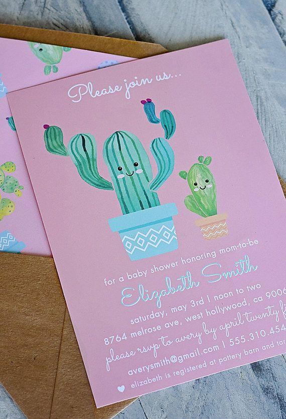 Cactus Cutie Baby Shower Party Invitation CUSTOM PDF Printable