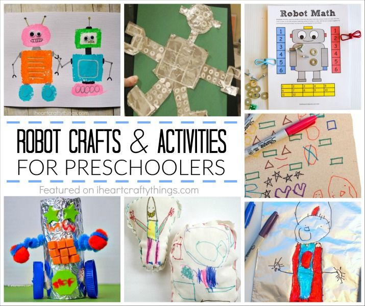 Do you and your preschoolers love robots? Here are six creative preschool robot crafts and activities that encourage and incorporate learning that kids will love! Find ideas that include everything from learning about shapes, math, fine motor skills, creative crafts and building robots with recyclable materials. Preschool Robot Theme Sponge Painted Robots – Preschoolers creativity …