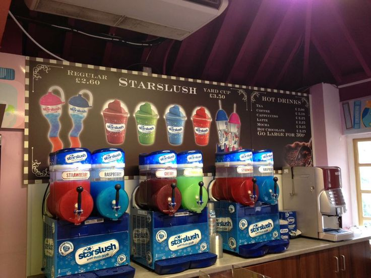 Here's the huge selection of Starslush flavours that you can find at Chessington Zoo! Can you choose one favourite flavour or do you go for a cosmic combo? #Starslush #ChessingtonWorldofAdventure #ChessingtonZoo