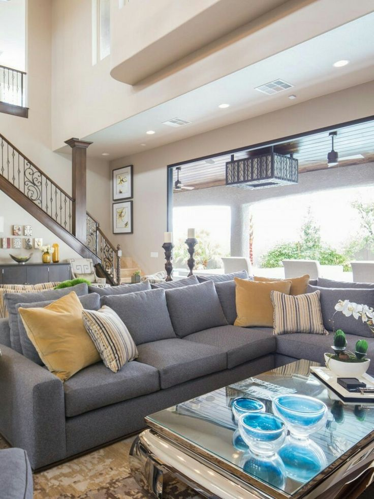 Obsessed with the Haus sectional in the Property Brothers' house