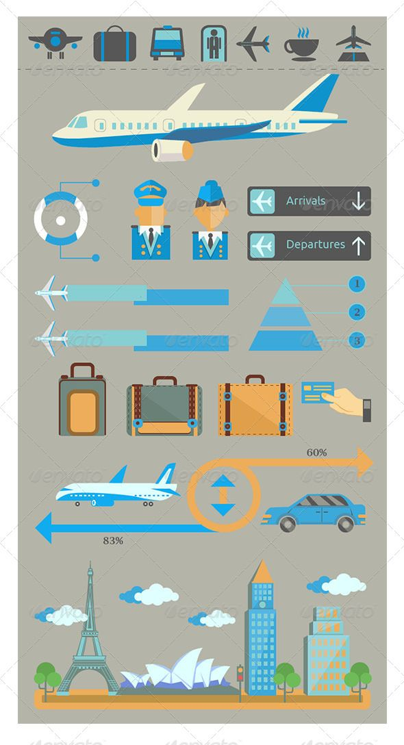 Infographic Set Elements of Airplane Illustration http://graphicriver.net/item/infographic-set-elements-of-airplane-illustration/6859943
